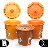 Brewooze Reusable K-cups - refillable k cup compatible with keurig 1.0 and 2.0 brewers