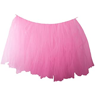 Xelparucoutdoor Handmade tulle Table Skirt, tabelle dessert tutu tabella battiscopa per nozze Baby Shower Birthday party decorate, rosa