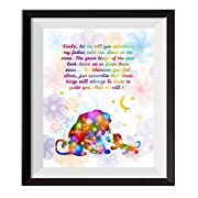 Uhomate The Lion King Simba Ornaments Home Canvas Prints Wall Art Anniversary Gifts Baby Gift Inspirational Quotes Wall Decor Living Room Bedroom Bathroom Artwork C084 (8X10)