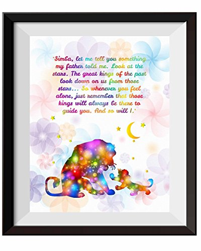 Uhomate The Lion King Simba Ornaments Home Canvas Prints Wall Art Anniversary Gifts Baby Gift Inspirational Quotes Wall Decor Living Room Bedroom Bathroom Artwork C084 (11X14)