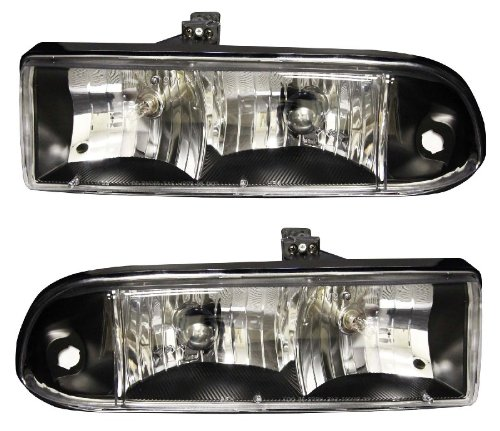 CHEVY S10 / BLAZER 98-04 CRYSTAL HEADLIGHT BLACK - Anzo Crystal Headlights 98