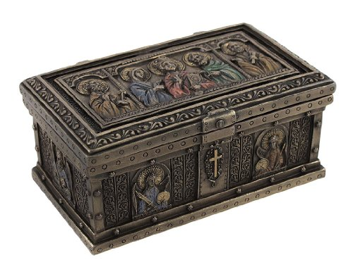 Catholic Altar - Veronese Design Bronzed Catholic Saints Altar Trinket Box