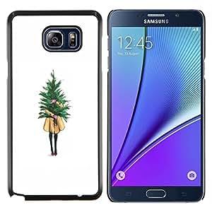 TECHCASE---Cubierta de la caja de protección para la piel dura ** Samsung Galaxy Note 5 ** --Winter White Christmas Árbol de Navidad
