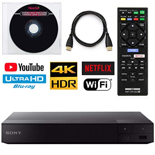 Sony BDP-S6700 4K Upscaling 3D Streaming Blu-Ray Disc Player with Built-in Wi-Fi + Remote Control + NeeGo HDMI Cable W/Ethernet NeeGo Lens Cleaner