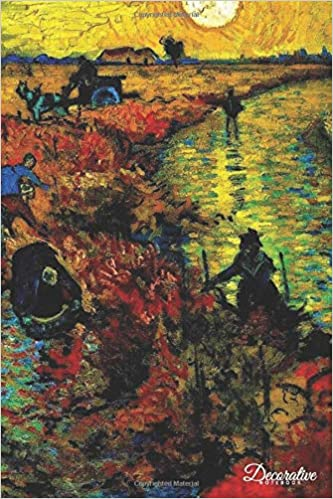 decorative notebook red vineyard at arles by vincent van gogh journal pocket sized notebook travel diary