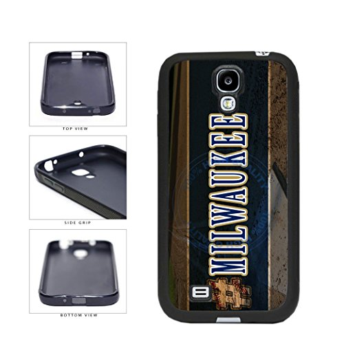 BleuReign(TM) Hashtag Milwaukee #Milwaukee Baseball Team TPU RUBBER SILICONE Phone Case Back Cover For Samsung Galaxy S4 (Brewers Samsung Galaxy S4 Case)