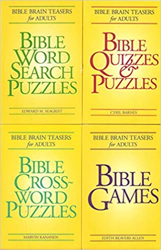 Bible Brain Teasers for Adults (4 Book Set includes:Bible Crossword