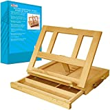 US Art Supply Solana Adjustable Wood Desk Table Easel with Storage Drawer, ...