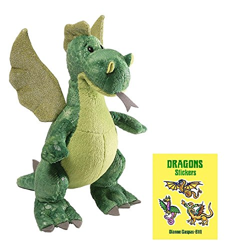 Gund Ember Green Dragon with Sticker (Wish Bear Care Bear Costume)