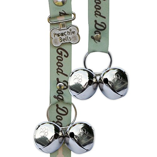 PoochieBells Original Housetraining & Potty Time Dog Doorbell. Know when it's potty time for your pooch. Handcrafted in the USA. Pet industry endorsed training guide (Doggy Dialogue Collection)