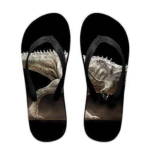 Couple Flip Flops Dinosaur Print Chic Sandals Slipper Rubber Non-Slip Spa Thong ()