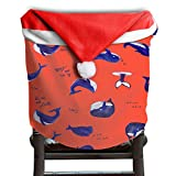 Whale Animal Christmas Chair Covers Antique Easy To Carry Hang Around Chair For Unisex Christmas Chair Back Covers Holiday Festive