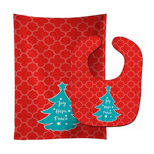 Caroline's Treasures Christmas Baby Bib & Burp Cloth, Tre...