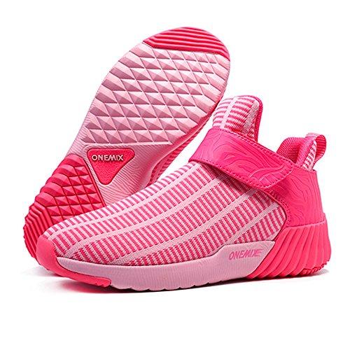 Zapatillas De Deporte Onemix Para Mujer, Ligeras, Con Cojín De Aire, Rosadas, Para Caminar