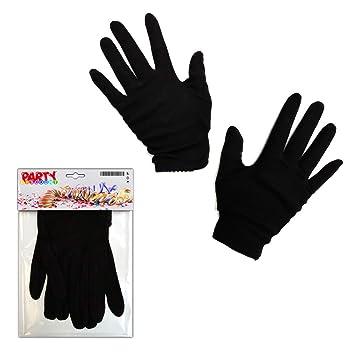 2304f57fe02b1a PARTY DISCOUNT ® Handschuhe Damengröße, Baumwolle, schwarz: Amazon ...