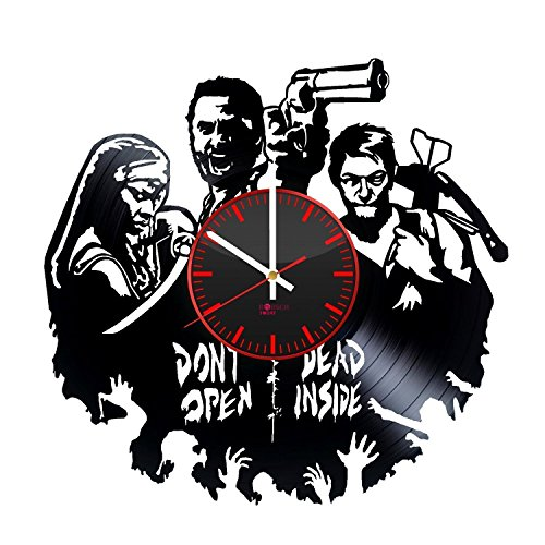 zombie-gun-handmade-vinyl-record-wall-clock-get-unique-living-room-wall-decor-gift-ideas-for-adults-