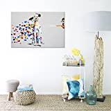 SEVEN-WALL-ARTS-100-Hand-Painted-Oil-Painting-Animal-Mischievous-Dog-Funny-Artwork-for-Home-Decor