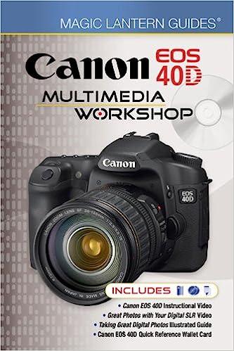 Buy canon eos 40d multimedia workshop (magic lantern guides) book.
