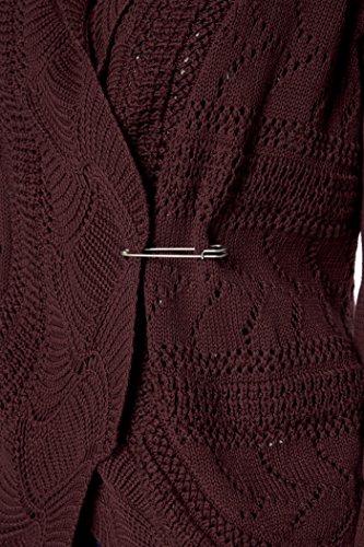 TopsandDresses - Cárdigan - suéter - Manga Larga - para mujer Rosso
