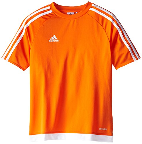 adidas Youth Soccer Estro Jersey, Orange/White, Large