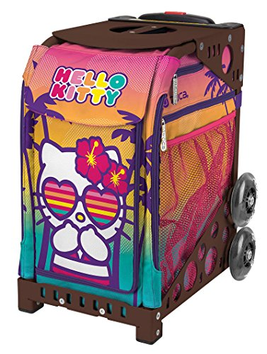 Zuca ''Hello Kitty Beach Bum'' Sport Insert Bag & Brown Frame with Flashing Wheels by ZUCA