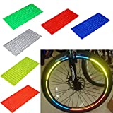 48 Stripes 6 Colors Reflective Bike Wheel Rim Stickers Safety MTB Bicycle Cycling Motorcycle Wheel Rim Reflector Tape Decal