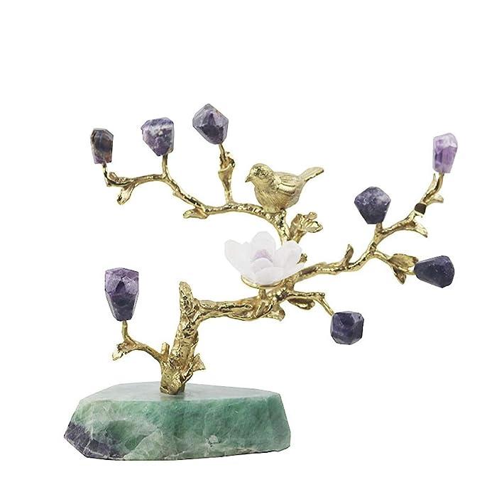 Árbol de Dinero Sala Mesa de Cristal Natural de la decoración del ...