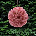 Mememall Fashion New Pink 9 Inch Romantic Super Flower Kissing Ball Pomander Wedding Decor Roses