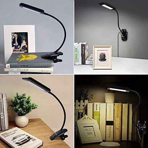 Sweet-Tempered Book Light Led Reading Light Lamp Portable Mini Flexible Clip On Desk Light Bright White Travel Light Lights & Lighting