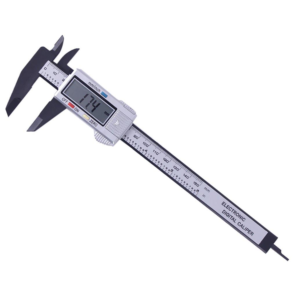150mm Medidor De Espesor De Micr/ómetro LCD Digital Negro non-brand gazechimp Calibrador Electr/ónico 0.1mm-100mm 100 mm
