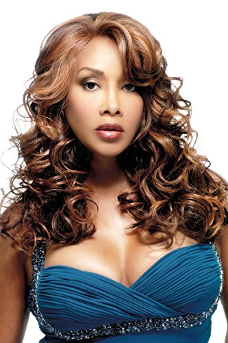 Vivica A Fox Hair Collection Lavender-V Deep Lace Front New Futura Synthetic Fiber Wig, P2216, 13.1 (Best Synthetic Wigs)