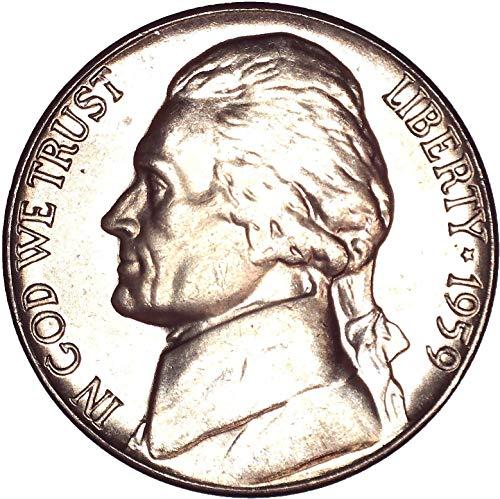 1959 Jefferson Nickel 5C Brilliant Uncirculated (Jefferson Ngc Nickel Mint)