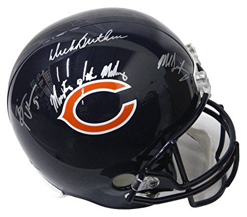 Midway Signed Replica Helmet - Dick Butkus, Mike Singletary & Brian Urlacher Signed Chicago Bears Full Size Replica Helmet w/Monsters Of The Midway - Schwartz COA