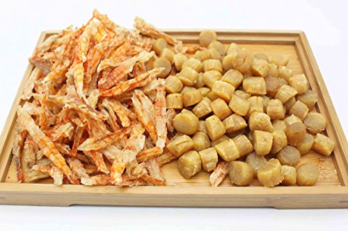 China Good Food Set-27 Dried prawns 蝦干 x Dried Medium Scallops Scallops 日本元貝 Free Airmail by China Good Food