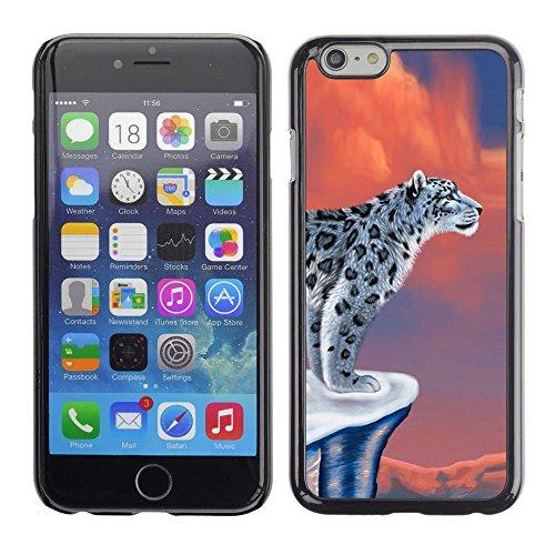 LASTONE PHONE CASE / Coque Housse Etui Shock-Absorption Bumper et Anti-Scratch Effacer Case Cover pour Apple Iphone 6 / Snow Leopard Art Big Cat Beautiful Drawing Wild