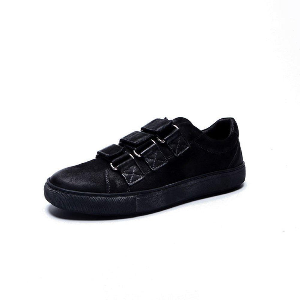 Stilvolle Nubuk Leder Freizeitschuhe Herren Schuhe mit Klettverschluss  Springflut Herrenschuhe