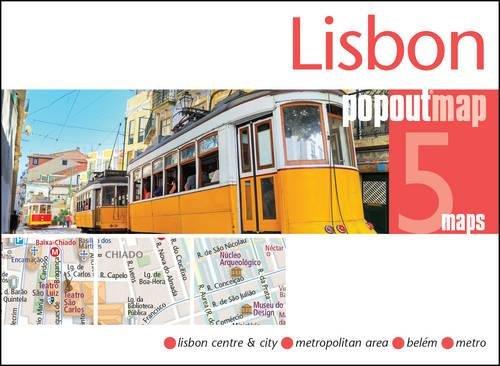 Lisbon PopOut Map: Lisbon Center & City, Metropolitan Area, Metro, Belem (Popout Maps)