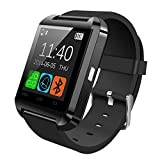 Coromose Bluetooth Smart Wrist Watch for Samsung iPhone (black)