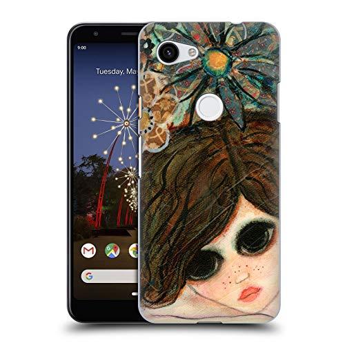 Official Wyanne Daydream Garden Big Eyed Girl 2 Hard Back Case Compatible for Google Pixel 3a