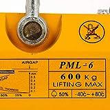 Happybuy Steel Magnetic Lifter 1320 LB Metal