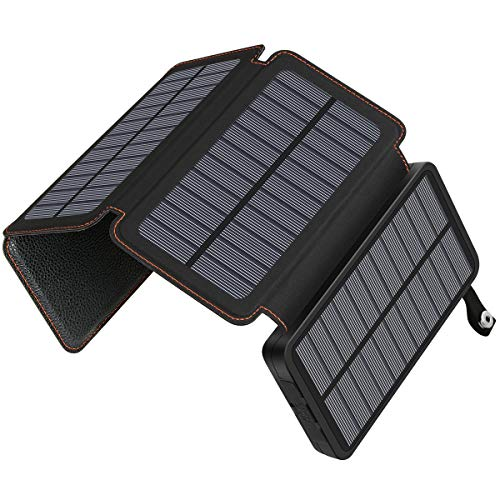 SOARAISE Solar Charger 25000mAh Power Bank Outdoor Solar Phone Charger with Dual 2.1A USB Ports Waterproof External Battery Pack for Most Phones, Tablets and More