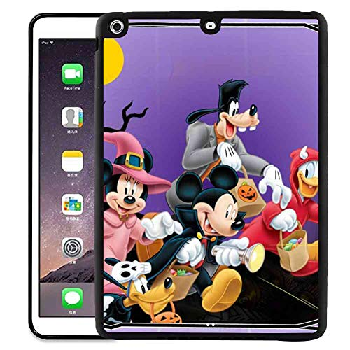 DISNEY COLLECTION Cover Fits for iPad Air (2013) | iPad 5 [2013] (9.7 Inch) Halloween Mickey Mouse and Minnie Mouse Goofy Donald Duck Pluto Disney Halloween Wallpaper