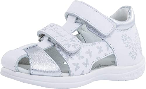 ac69a94ce9942 Kotofey Girls White Sandals 322058-21 Genuine Leather Orthopedic Sandals  with Arch Support (Toddler