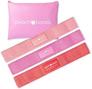 Peach Bands Hip Band Set - Fabric Booty Resistance Bands for Leg and Butt Workouts