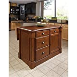 Home Styles 5520-94 Aspen Kitchen Island, Rustic Cherry Finish For Sale