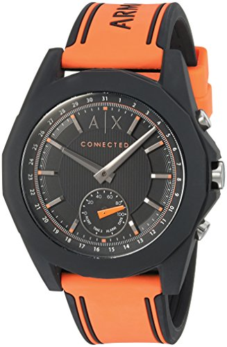 Armani Exchange Men's AXT1003 Orange Silicone Connected Hybrid - Exchange Armani Shop
