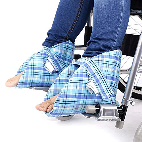 GHzzY Medical Heel Cushions Protector for Pressure Sores & Tendon Rest - Wheelchair Elderly Ankle Protective Pillow - 1 Pair
