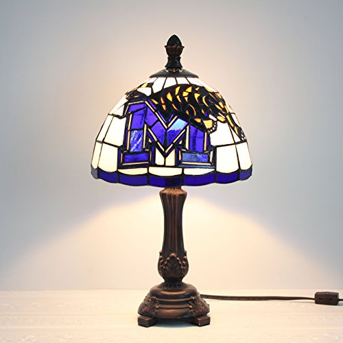 Royal- 9-inch NCAA Memphis Tigers Stained Glass Table Lamp (Glass Stained Desk Tigers)