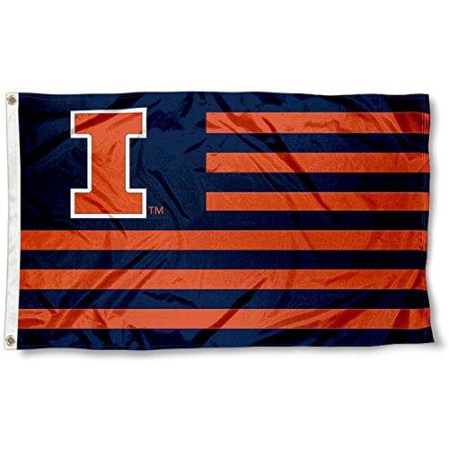 University of Illinois Fighting Illini Alumni Nation Stripes Flag