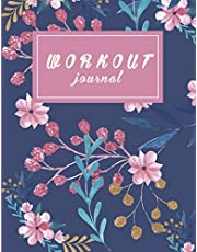 """Workout and food journal: Fitness Journal and Diary Workout log:Gym Training Log Book 120 pages Large Print 8.5"""" x 11"""""""